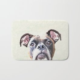 Brindle Boxer Dog Bath Mat