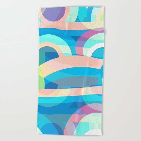 Marine abstraction Beach Towel