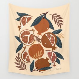 Pomegranate - Terracotta Wall Tapestry