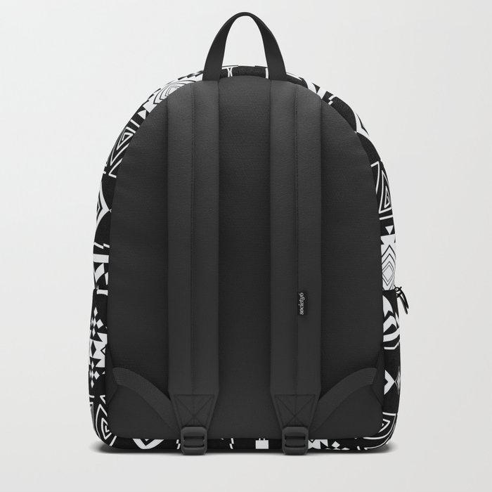 Aztec black and white pattern. Backpack
