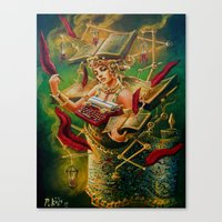 literary Canvas Prints featuring The Literary Device by Michael Pukac