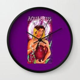 Aquarius - Art Nouveau Zodiac Wall Clock