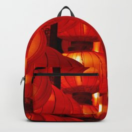 Vibrant red Chinese lanterns Backpack