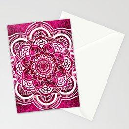 Mandala Hot Pink Colorburst Stationery Cards