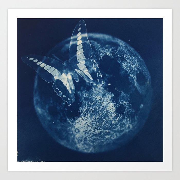 Butterfly Moon Art Print