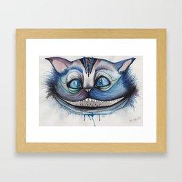 Cheshire Cat Grin - Alice in Wonderland Framed Art Print