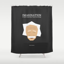 Lab No. 4 - Albert Einstein Inspirational Quotes Typography Poster Shower Curtain