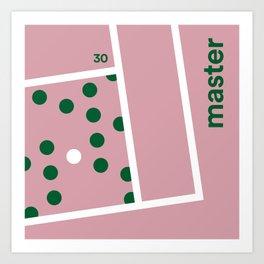 Minimal Tennis Master Art Print