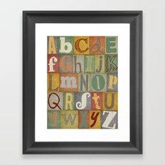 Vintage Alphabet Print Framed Art Print