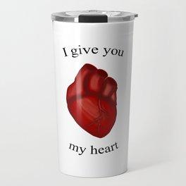 Human Heart Valentine Travel Mug