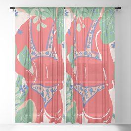 The Art Of Bikini Sheer Curtain