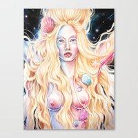 venus Canvas Prints featuring VENUS by Daniel Fernández