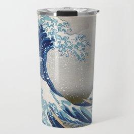 Under the Wave off Kanagawa - The Great Wave - Katsushika Hokusai Travel Mug