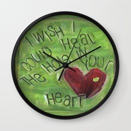 Hole in Your Heart by Seattle Artist Mary Klump Wall Clock