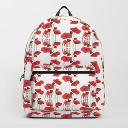Pugs and Poppies Backpack
