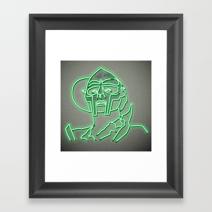 MF Doom - Neon  Sign Gerahmter Kunstdruck