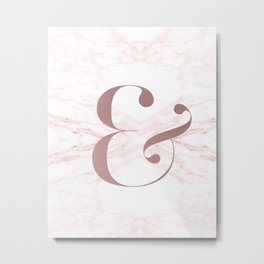 Marble Ampersand Metal Print