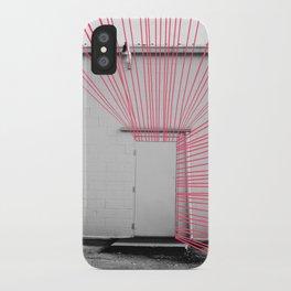 White Door, Red-Pink Prism iPhone Case