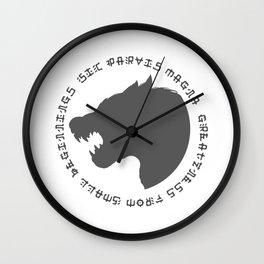 Sic Parvas Magna Wall Clock