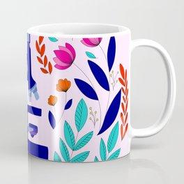 Pink and Purple Folk Microscope Coffee Mug