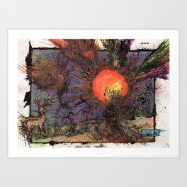 Xargi's Pursuit Sees An End Art Print