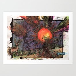 Xargi's Pursuit Sees An End Art Print