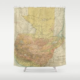 Vintage Map of Guatemala (1902) Shower Curtain