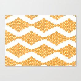 Orange Floral Doily Pattern Canvas Print