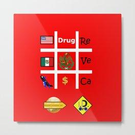 #Drug Metal Print