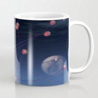 hydra Mugs featuring Celestial Hydra by Ann Garrett