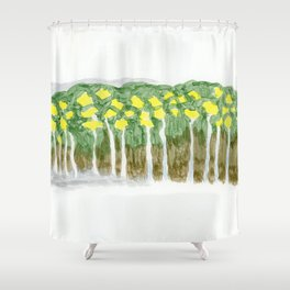 Yellow flowers 2 Shower Curtain