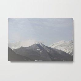 Ombre Peaks Metal Print