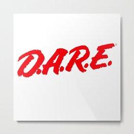 D.A.R.E. (Dare)  to keep kids off drugs Vintage Logo Shirt Metal Print