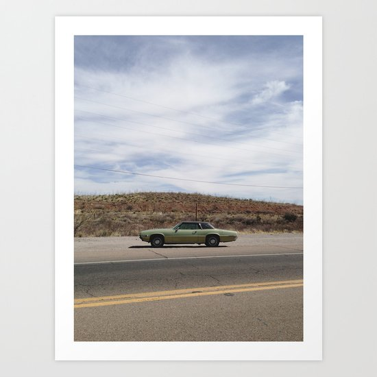 Bisbee Roadside Art Print