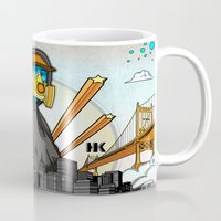 graffiti Mugs featuring Graffiti by Helen Kaur