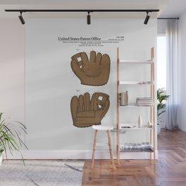 Baseball Glove Patent Wall Mural