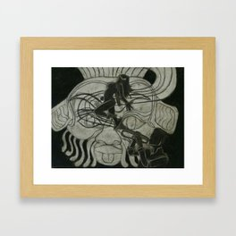 Jazz in the face of the Egyptian god Bisu Framed Art Print