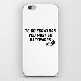 Rugby Go Backwards Quote iPhone Skin