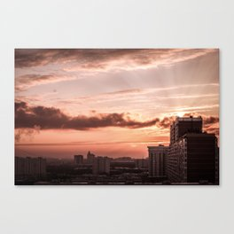 Dawn in the city Canvas Print