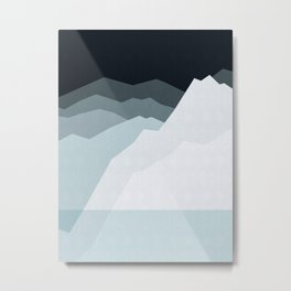Abstract and geometric landscape 08 Metal Print