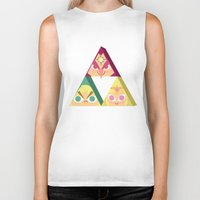 triforce Biker Tanks featuring triforce! by Spencer Duffy