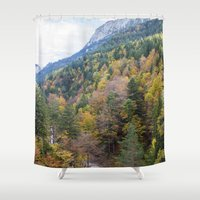 forrest Shower Curtains featuring Forrest  by Veronika