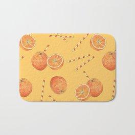 orange juice _ light Bath Mat