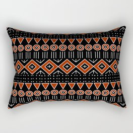 Mudcloth Style 2 in Black and Red Rectangular Pillow