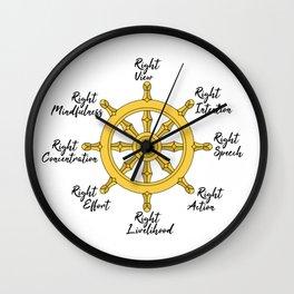 The Noble Eightfold path Wall Clock
