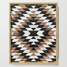 Urban Tribal Pattern No.13 - Aztec - Concrete and Wood Serving Tray