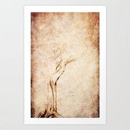 Drawn Tree iPhone Case Art Print
