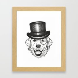 retro dog Framed Art Print