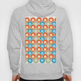 Abstract retro circle design, vintage circles Hoody