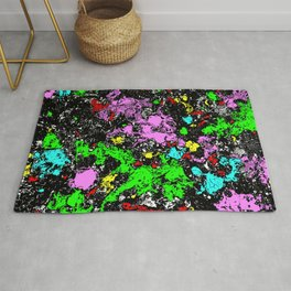 Coloriffic - Abstract color splatter art Rug